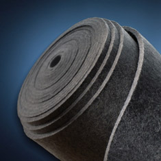 grey roll of felt